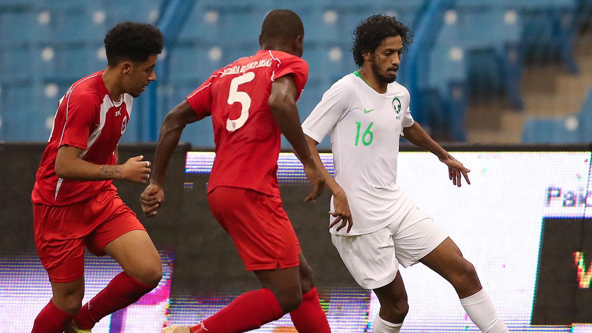 الأخضر يتغلب على غينيا الاستوائية بثلاثة أهداف مقابل هدفين