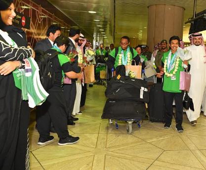الأولمبياد الخاص السعودي يصل للمملكة محققا 40 ميدالية متنوعة