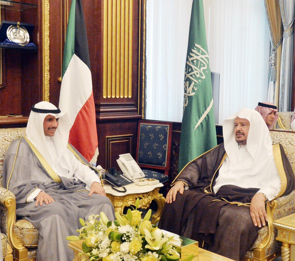 مباحثات رسمية بين رئيس مجلس الشورى ورئيس مجلس الأمة الكويتي بالرياض