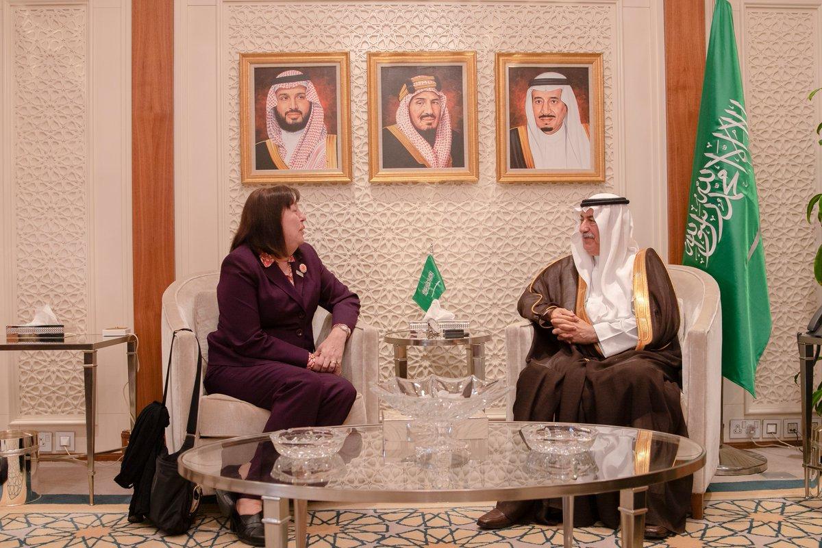 وزير الخارجية يستقبل الممثلة الخاصة للأمين العام للأمم المتحدة المعنية بالأطفال والنزاع المسلح