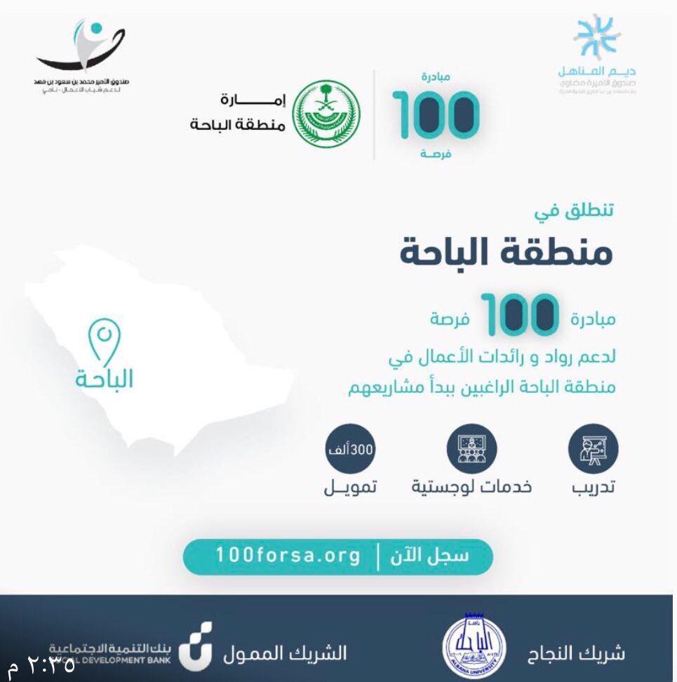 """مركز الابتكار وريادة الأعمال بجامعة الباحة بالتعاون مع صندوق """"ديم المناهل"""" يجيز خمسة مشاريع ريادية"""