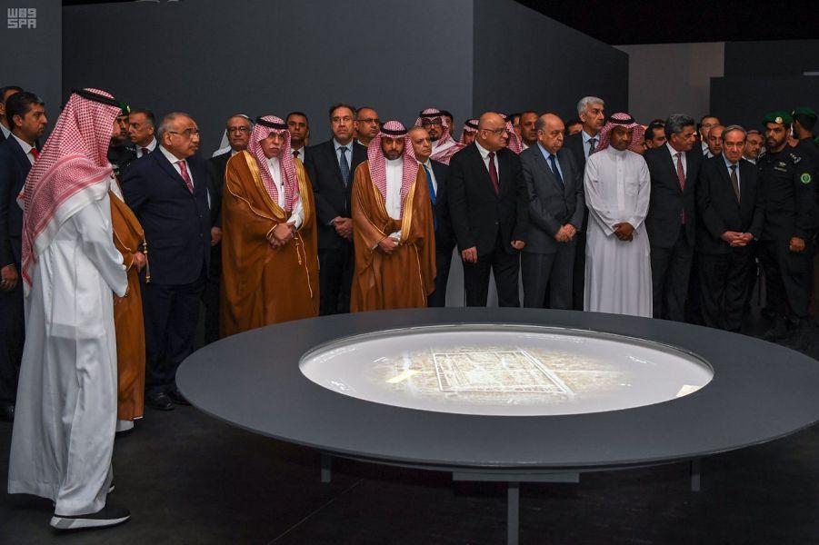 """رئيس الوزراء العراقي يفتتح معرض """"مدن دمرها الإرهاب"""" في الرياض"""