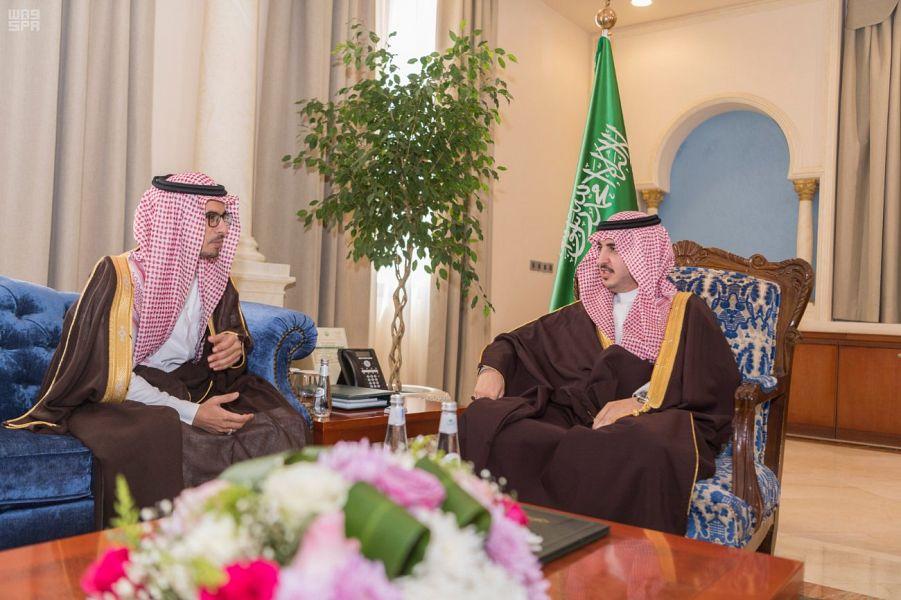أمير الجوف يستقبل مدير جمرك المطار المعين حديثاً