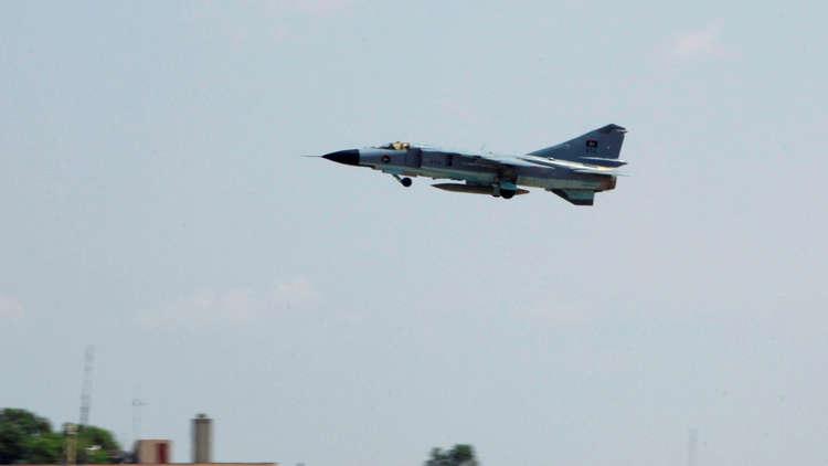 عاجل || إسقاط طائرة حربية تابعة لحكومة الوفاق في وسط ليبيا