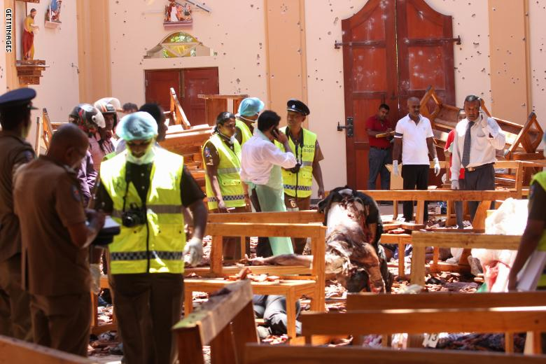 ارتفاع عدد ضحايا تفجيرات سريلانكا إلى 310 قتيل