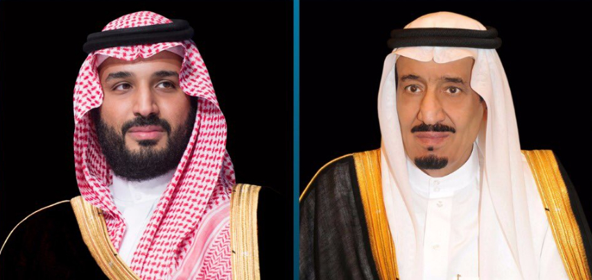 خادم الحرمين الشريفين وولي العهد يبعثان برقية عزاء لرئيس جمهورية